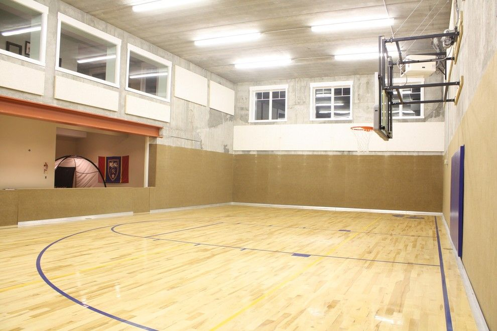 Pictures of Basketballs for a Traditional Home Gym with a Traditional and Windsong Gym by Shaw Design Group