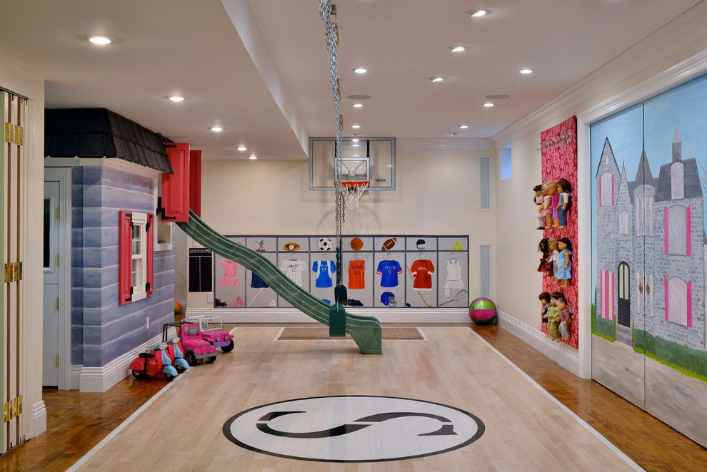 Pictures of Basketballs for a Traditional Kids with a Soffit and East Hills Custom Home by Elle Baker Interiors