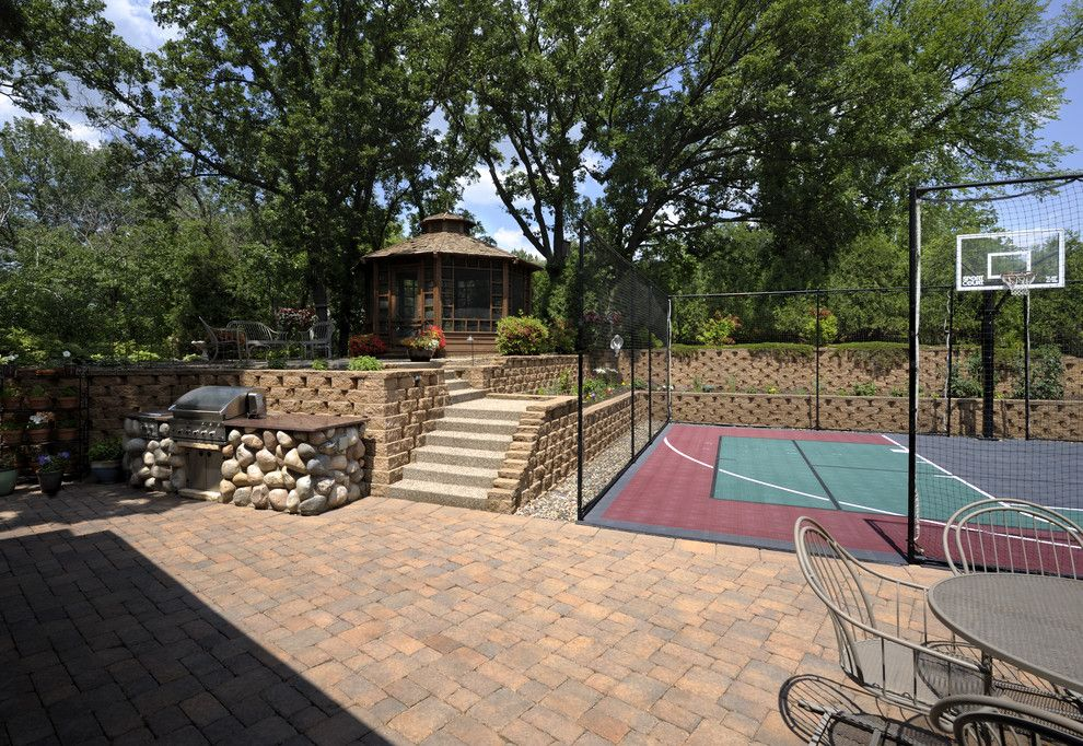 Pictures of Basketballs for a Traditional Landscape with a Basketball and Lake Country Builders by Lake Country Builders