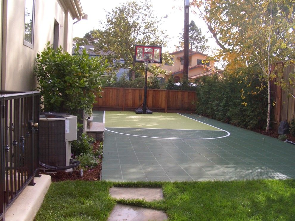 Pictures of Basketballs for a Traditional Landscape with a Basketball and Sport Court by Keith Willig Landscape Services, Inc.