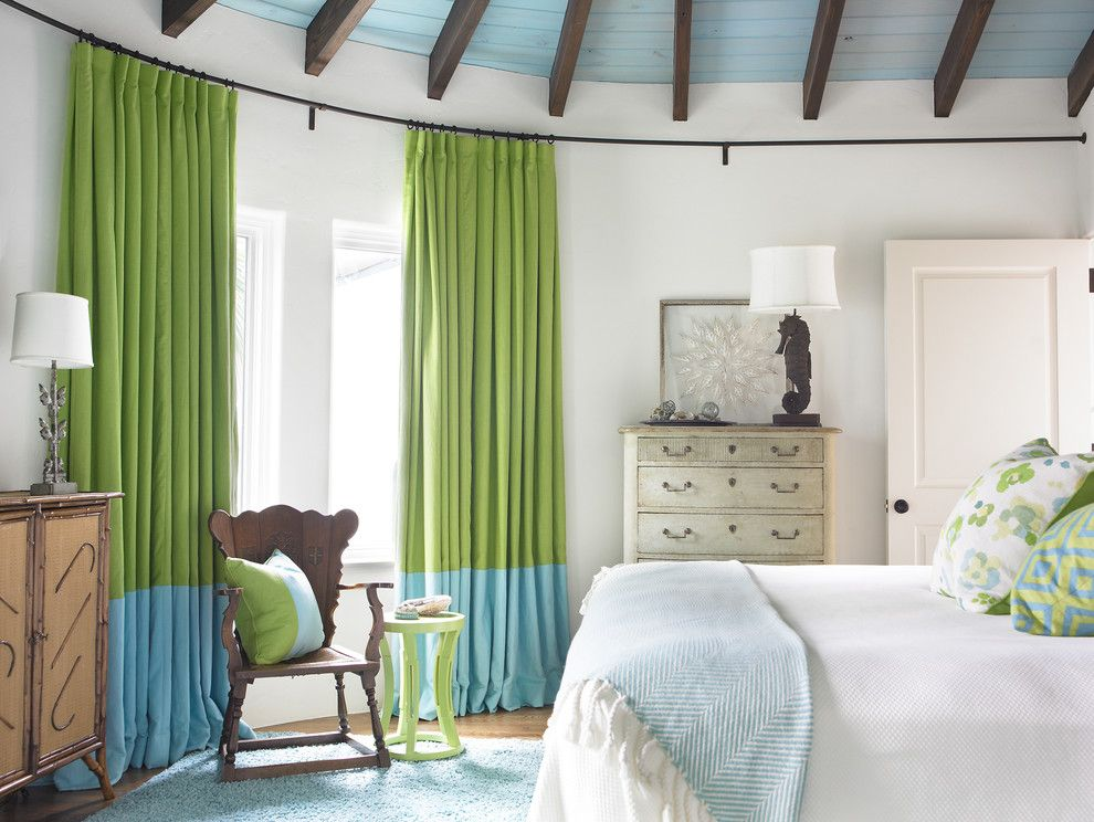 Pictures of Seahorses for a Beach Style Bedroom with a White and Bedroom by Carter Kay Interiors