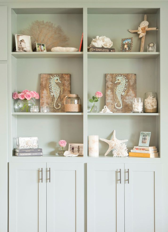 Pictures of Seahorses for a Beach Style Living Room with a Star Fish and Greenmeadows Ave by George Interior Design