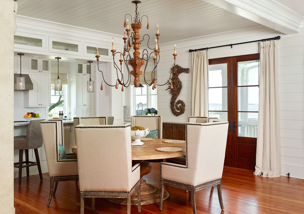 Pictures of Seahorses for a Tropical Dining Room with a Wingback Dining Chairs and Old Village   Mt. Pleasant by Structures Building Company