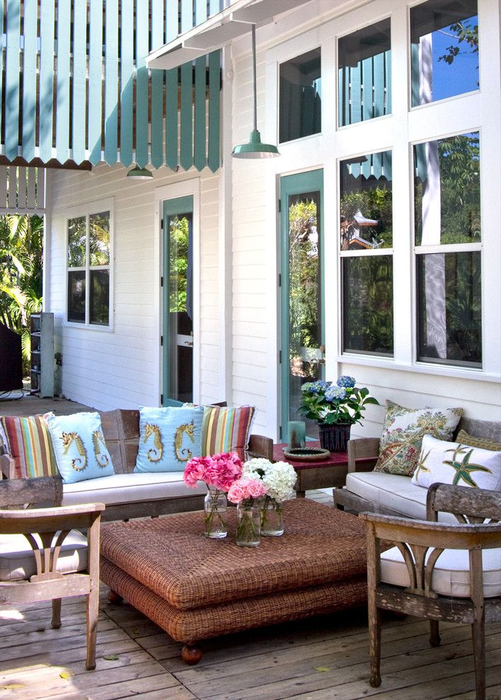 Pictures of Seahorses for a Tropical Porch with a Pendant and Island Grove Estate Outdoor Living Area by Barn Light Electric Company
