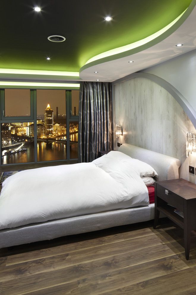 Pilgrim Furniture City for a Contemporary Bedroom with a Platform Bed and One World Design by One World Design Architects