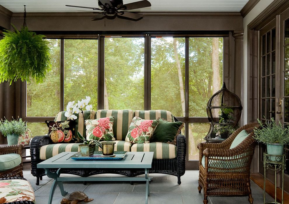 Pilgrim Furniture City for a Traditional Porch with a French Doors and Crisp Architects by Crisp Architects