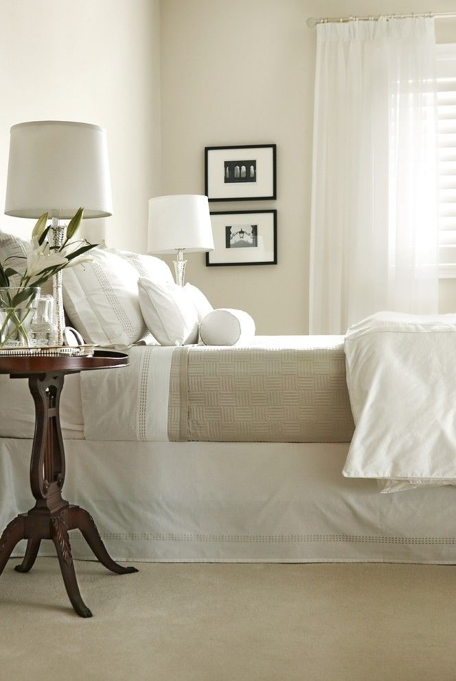 Pilings for a Traditional Bedroom with a Chrome and Beautiful Bedroom by Jackie Glass Inc.