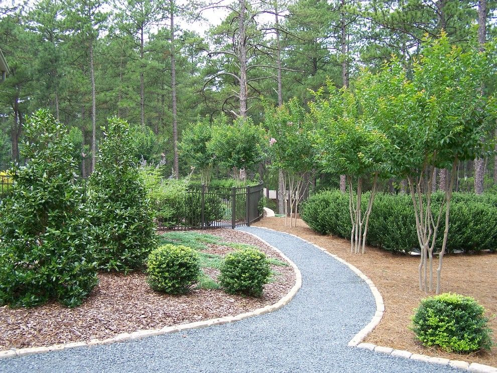 Pine Bluff Sand and Gravel for a Contemporary Landscape with a Trees and Ramsey Landscape Associates, Inc. by Ramsey Landscape Associates, Inc.