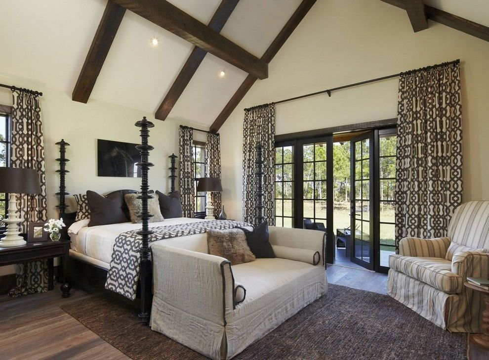 Pinecone Hill for a Rustic Bedroom with a Log Cabin and Ranch Estate by Giana Allen Design Llc