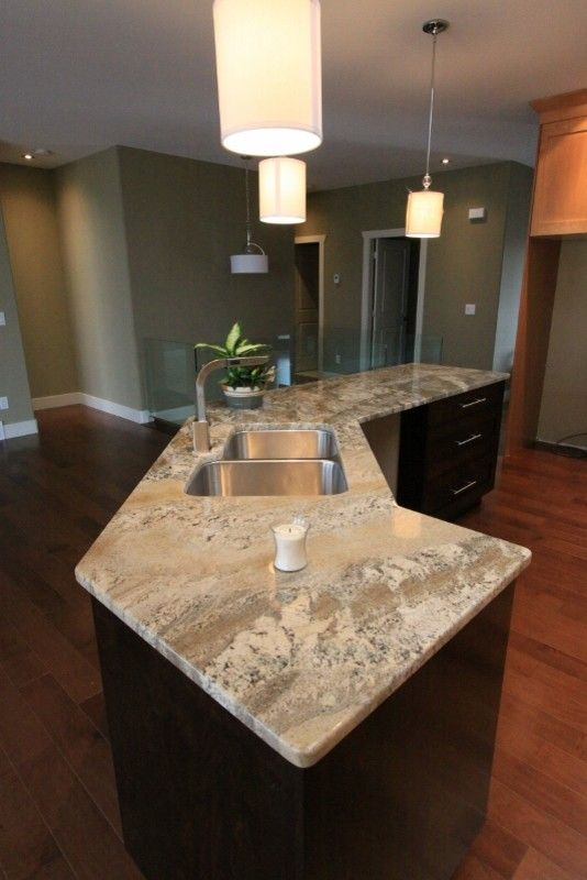 Pineview Estates for a Contemporary Kitchen with a Buckskin Granite and Pineview Estates by Design & Decor by Shelley