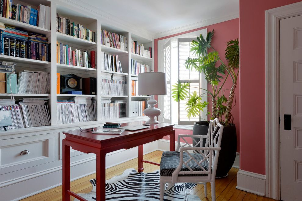 Pink Sands Bahamas for a Traditional Home Office with a White Accessories and Euclid/tanya Collins Design by Tanya Collins Design Inc.