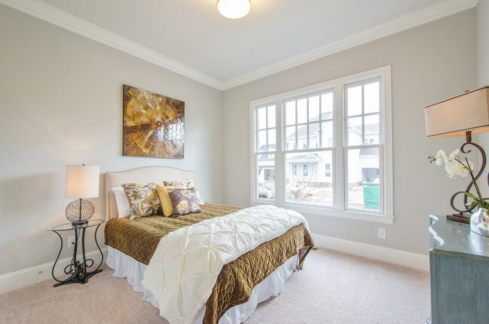 Pintuck for a Transitional Bedroom with a Pintuck Duvet Cover and Madison   Lot 1539 by Slc Homebuilding, Llc