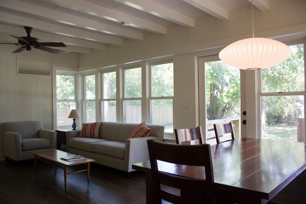 Places to See in Austin for a Modern Family Room with a Porch and Screen Porch Reclaim by Moontower Design Build