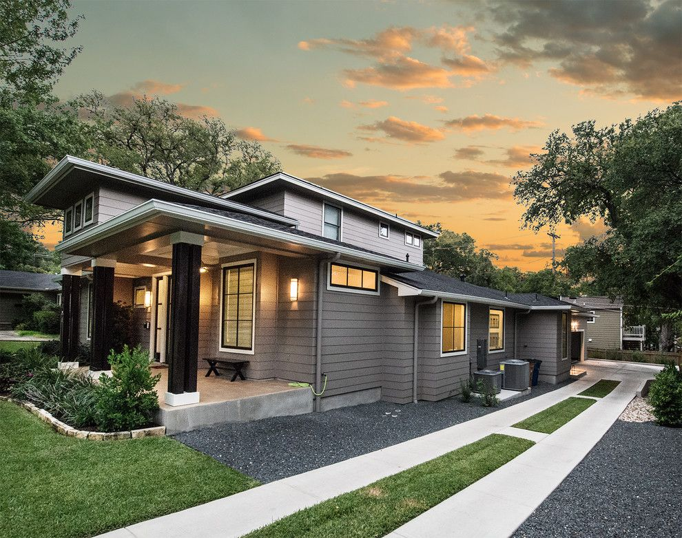 Places to See in Austin for a Transitional Exterior with a Gravel and 1707 W 30th by Mezger Homes