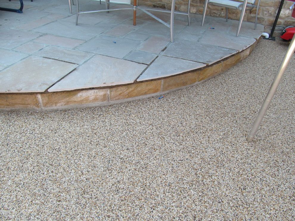 Platte Clay Electric for a Modern Patio with a Resin Drives Yorkshire and Resin Driveways Permeable Paving Resin Bound Gravel County Durham by Darren Hatton