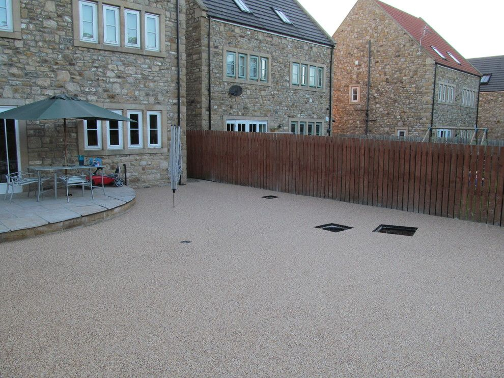 Platte Clay Electric for a Modern Patio with a Resin Driveways Yorkshire and Resin Driveways Permeable Paving Resin Bound Gravel County Durham by Darren Hatton