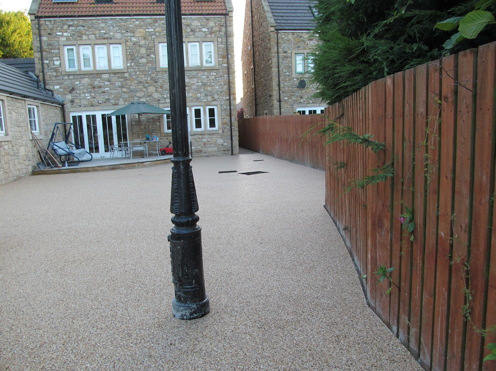 Platte Clay Electric for a Modern Patio with a United Kingdom and Resin Driveways Permeable Paving Resin Bound Gravel County Durham by Darren Hatton