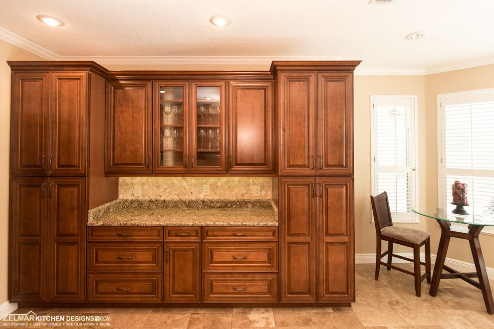 Pleasure Island Orlando for a Traditional Kitchen with a Traditional Kitchen and Markowitz (Waypoint) Zelmar Kitchen Remodel by Zelmar Kitchen Designs & More, Llc