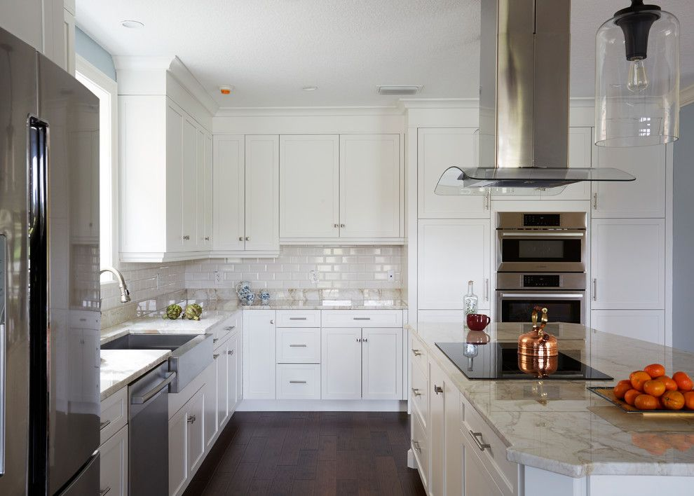 Pleasure Island Orlando for a Transitional Kitchen with a Hanging Lights and Orlando, White Modern Kitchen by Central Kitchen & Bath