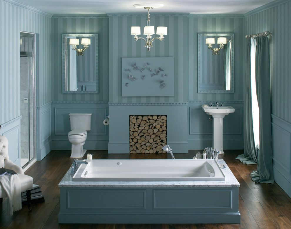 Plumbers Supply Louisville for a Transitional Bathroom with a Drop in Tub and Kohler Bathrooms by Capitol District Supply