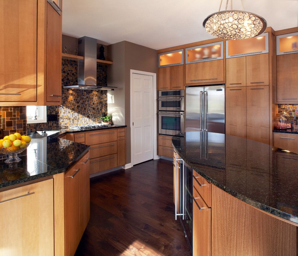 Plymouth Mn Weather for a Contemporary Kitchen with a Dark Granite Countertop and Contemporary Plymouth, MN by Trinity Construction Services, LLC