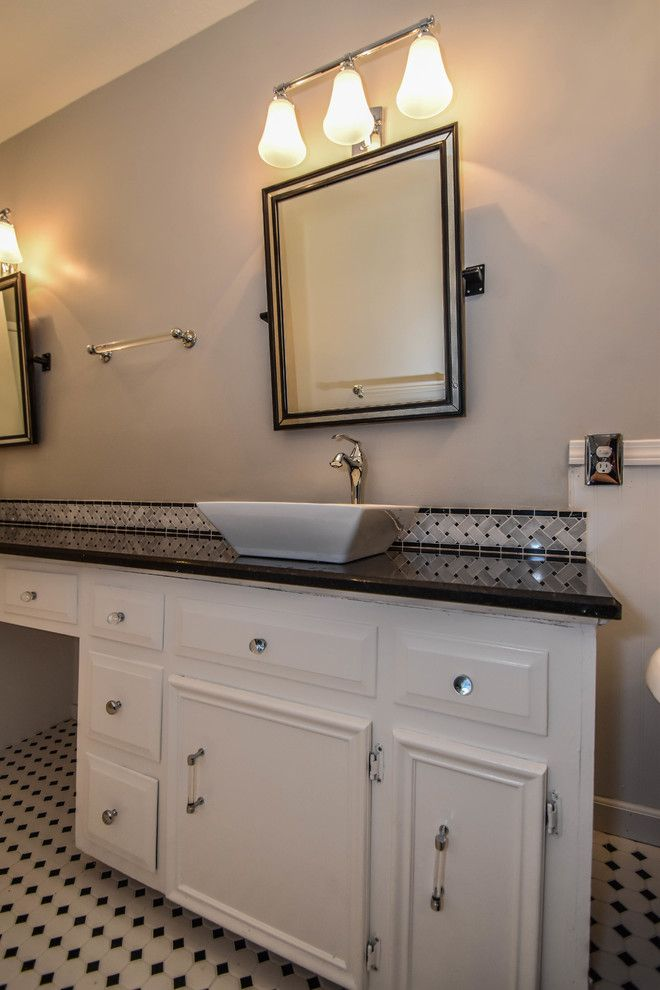 Pmac Lending Services for a Transitional Bathroom with a Gray and Houston Bathroom Remodel   Long & Narrow, Black & White by Outdoor Homescapes of Houston