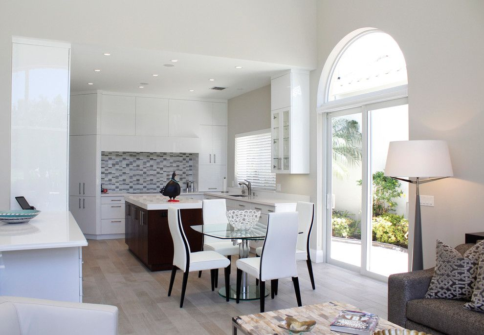 Polo Club Boca Raton for a Modern Kitchen with a White Dining Chair and Private Residence, Polo Club,  Boca Raton, Fl by Susan Lachance Interior Design
