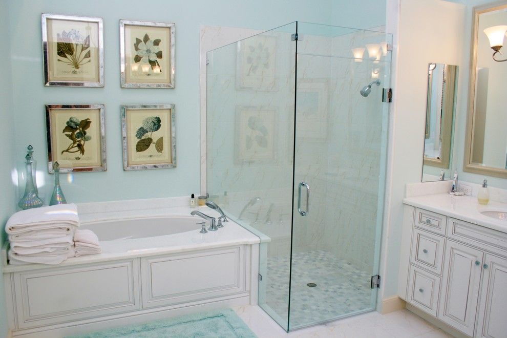 Polo Club Boca Raton for a Traditional Bathroom with a Contemporary and Private Residence, Polo Club, Boca Raton, Florida by Susan Lachance Interior Design