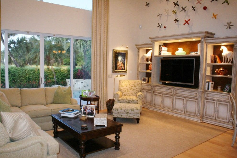Polo Club Boca Raton for a Traditional Living Room with a Neutral and Private Residence, Polo Club, Boca Raton, Florida by Susan Lachance Interior Design