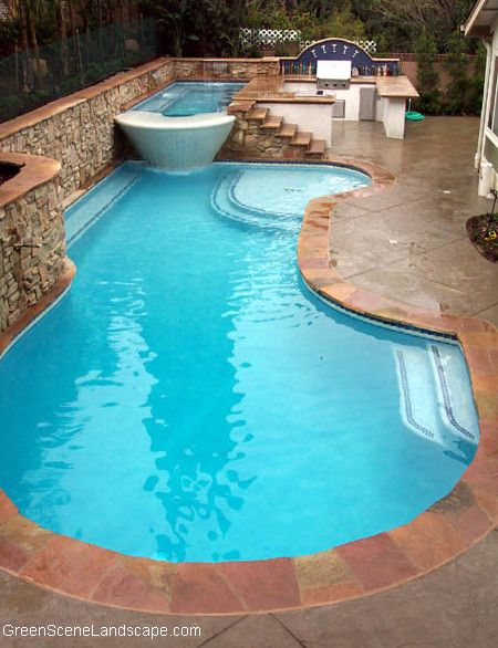 Pool World Spokane for a Mediterranean Pool with a Swim Up Bar and Martini Spa, Libations Kitchen, Swimming Pool by Green Scene Landscaping & Pools