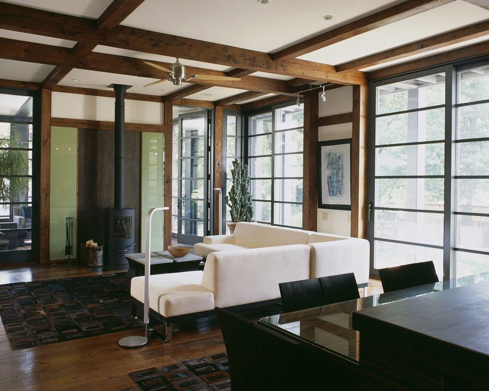 Popcorn Ceiling Asbestos for a Craftsman Living Room with a Glass and Craftsman Teahouse by Gardner Architects Llc