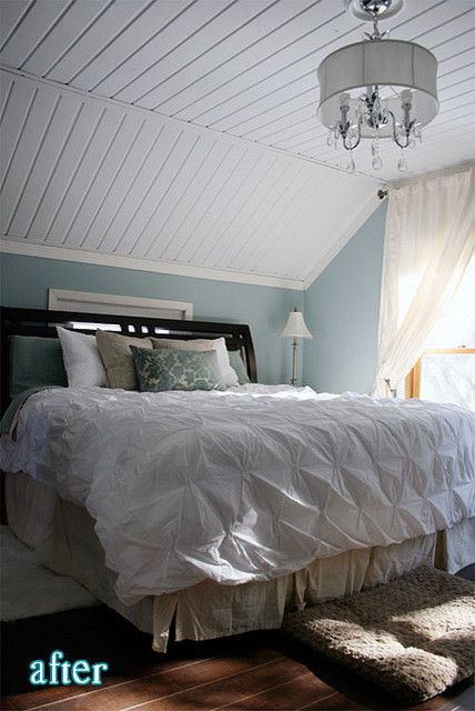 Popcorn Ceiling Asbestos for a Eclectic Bedroom with a Sloped Ceiling and Dreamy Bedroom by Grace