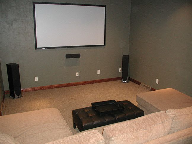 Port Chester Theater for a Traditional Family Room with a Traditional and Theatre Rooms by PortSide Builders, Inc.