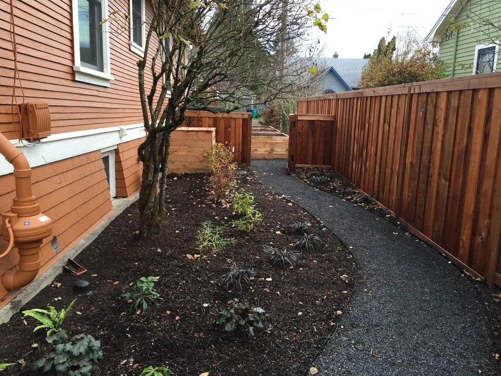 Portland Sand and Gravel for a Traditional Landscape with a Juniper and Ne 21st Ave. Project by Branch Out Landscape Design Llc