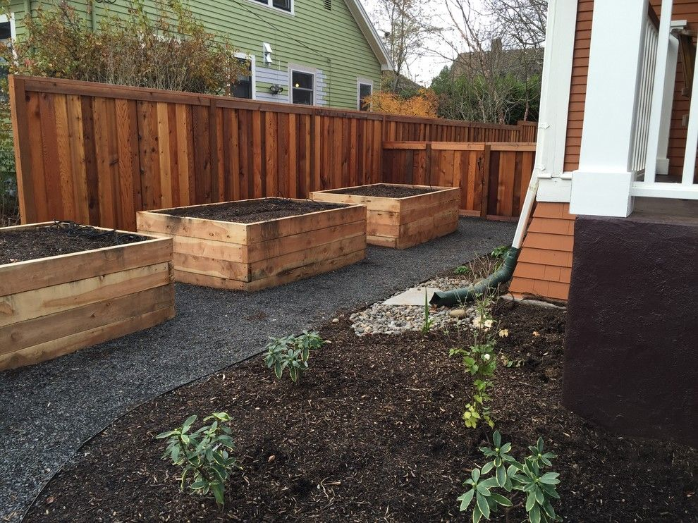 Portland Sand and Gravel for a Traditional Landscape with a Rain Garden and Ne 21st Ave. Project by Branch Out Landscape Design Llc