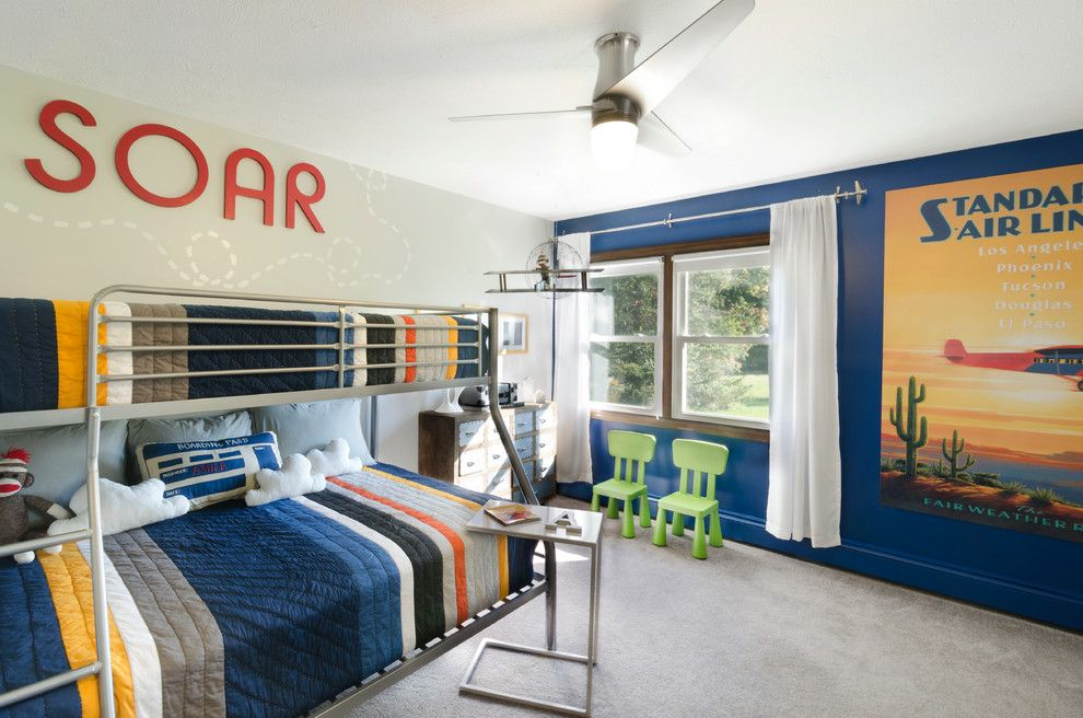 Pottery Barn Kids Nyc for a Contemporary Kids with a Pillows and Asher's Aviation Abode by Taylor Design Studio