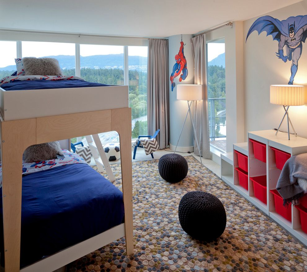 Pottery Barn Kids Nyc for a Contemporary Kids with a Polka Dot Rug and Contemporary Kids by Sublimeinteriordesign.com