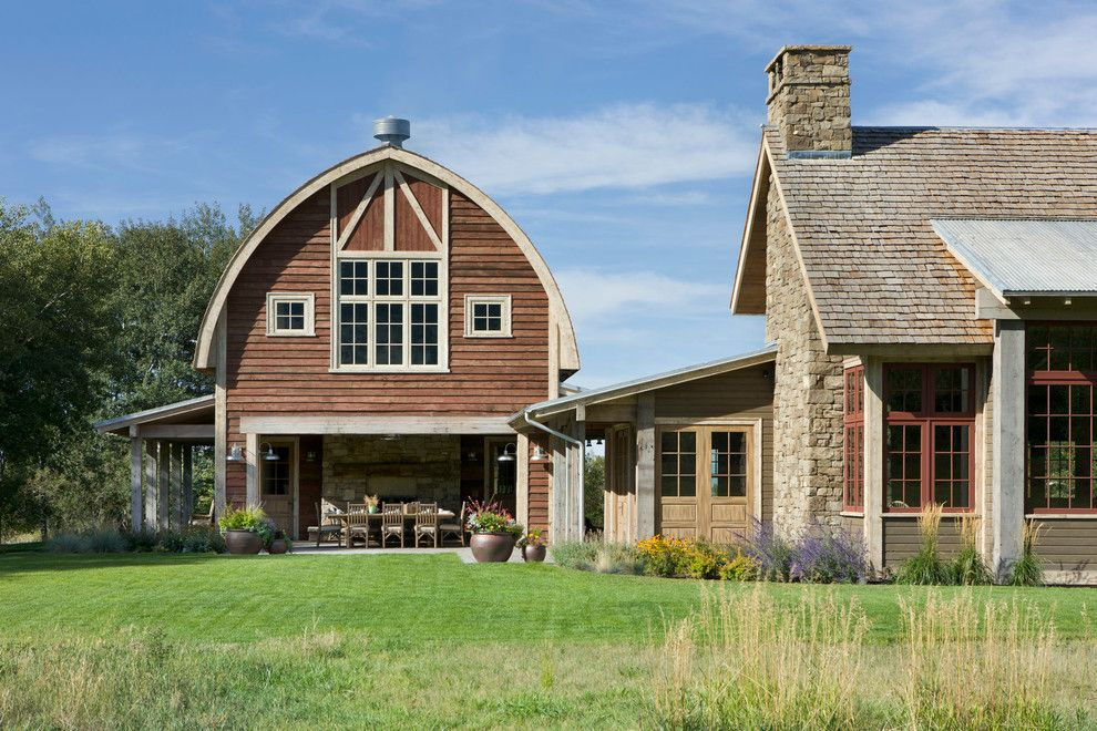 Pottery Barn Ornaments for a Farmhouse Exterior with a Farmhouse and Springhill Residence by Locati Architects