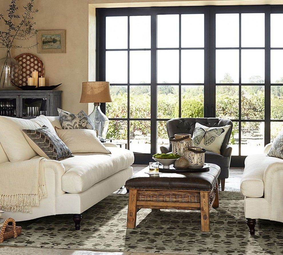 Pottery Barn Returns for a Contemporary Living Room with a Contemporary and Pottery Barn by Pottery Barn