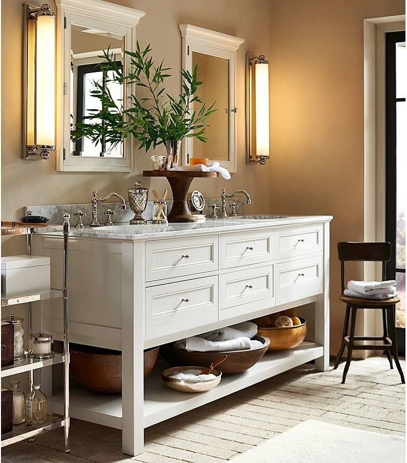 Pottery Barn Returns for a Traditional Bathroom with a Traditional and Pottery Barn by Pottery Barn