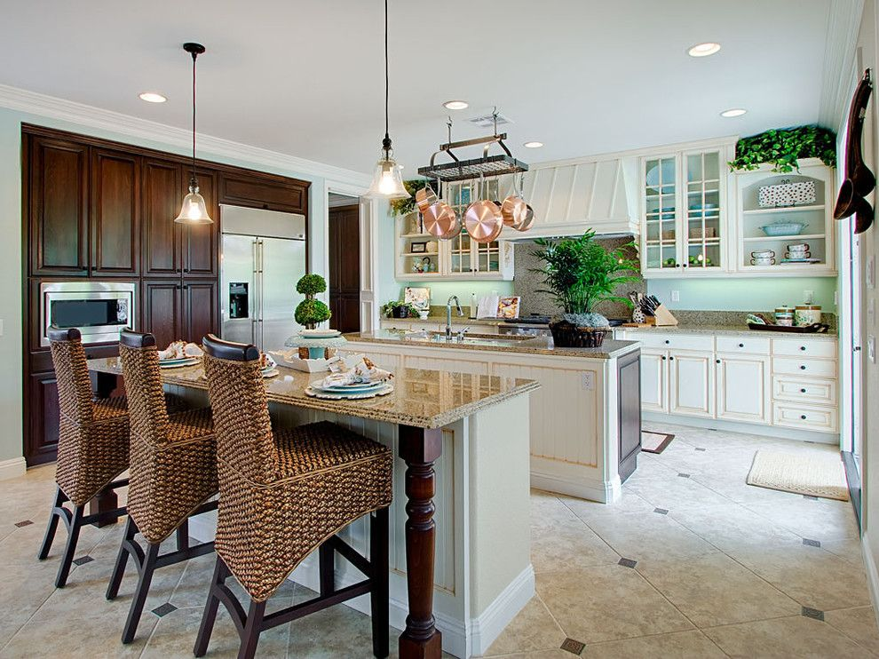 Pottery Barn Returns for a Traditional Kitchen with a Range Hood and Traditional Kitchen by Styleonashoestring.com