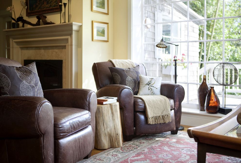 Pottery Barn Returns for a Traditional Living Room with a Floor Lamp and Transitional Living Room by Scinteriorsanddesigns.com