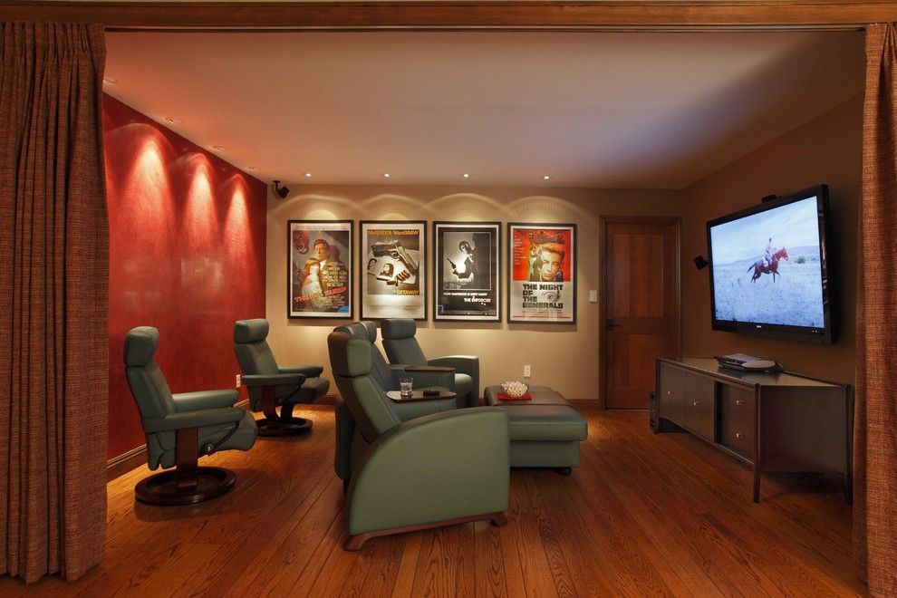 Poway Movie Theater for a Traditional Home Theater with a Movie Posters and Sebastopol Addition & Remodel by Harkey Construction, Inc.