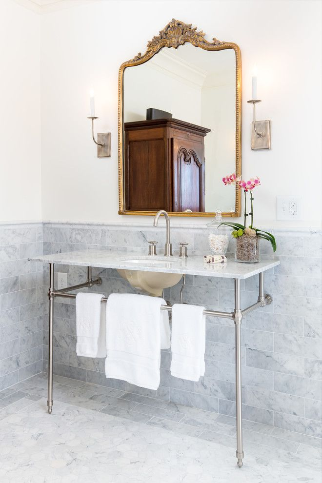Power Home Remodeling Group Reviews for a Transitional Bathroom with a Vintage Bath and Redmont Whole Home Remodel by Lovette Construction