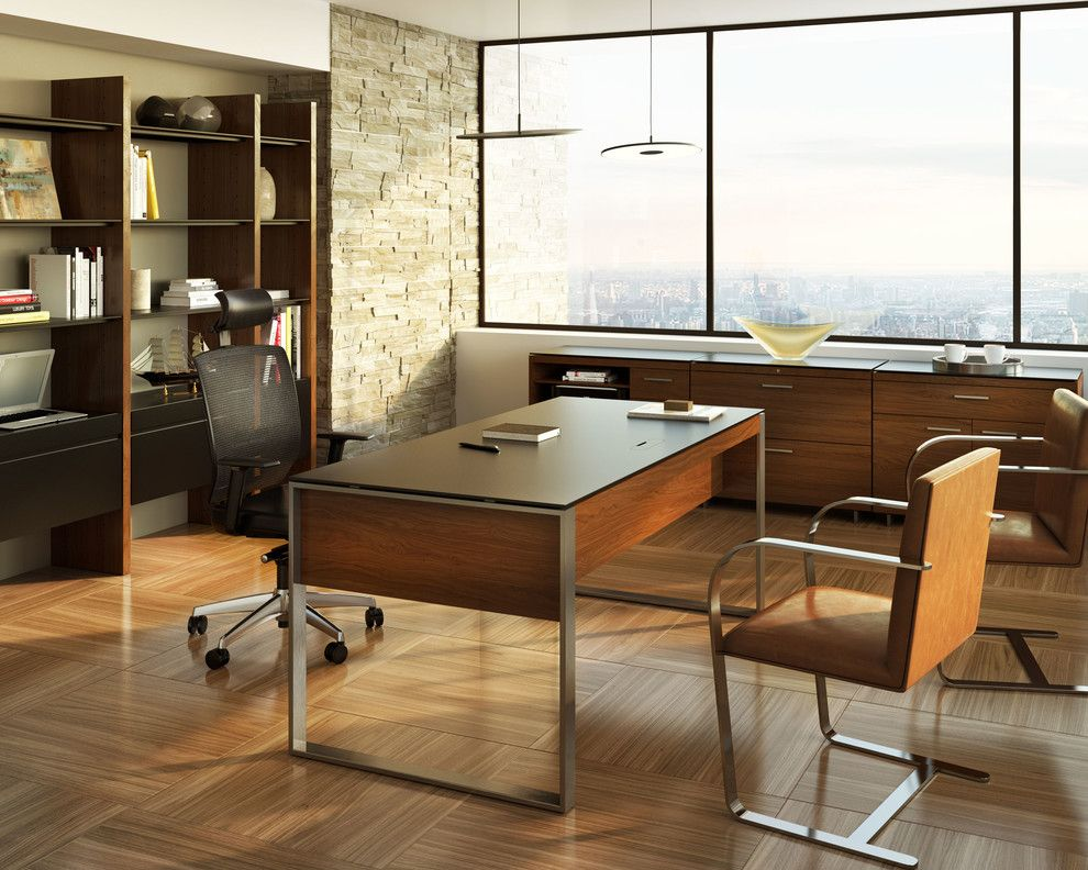 Power Outage Houston for a Contemporary Home Office with a Matthew Weatherly and Bdi Furniture by Bdi Furniture