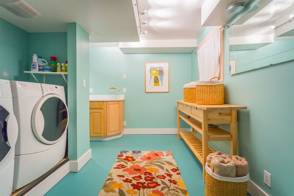 Ppg Paint Store for a Beach Style Laundry Room with a Organized and West Seattle Waterfront Retreat by Cassie Daughtrey Realogics Sotheby's Realty