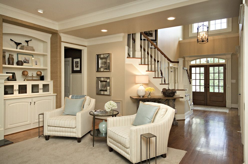 Ppg Paint Store for a Traditional Family Room with a Staircase and Clean & Simple Lines by Driggs Designs