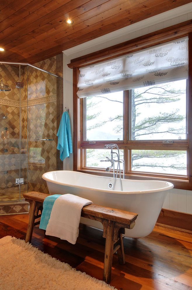 Price Pfister Warranty for a Rustic Bathroom with a Rustic and Fairy Lake Home by Urban Rustic Living