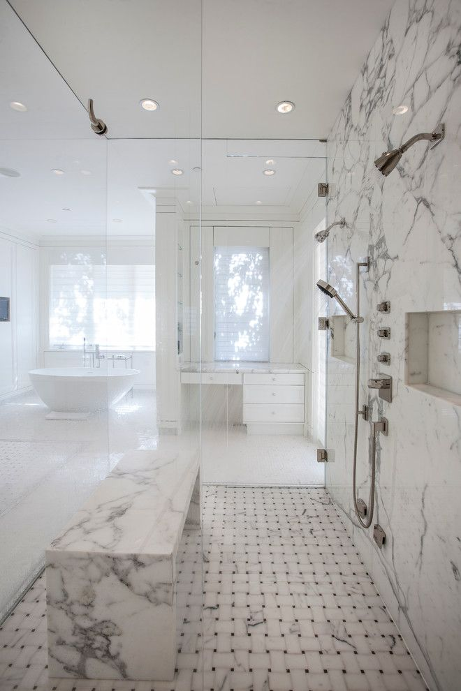 Price Pfister Warranty for a Transitional Bathroom with a Basketweave Floor Tile and Starwood Estate Bathroom by Cody Isaman   Photographer