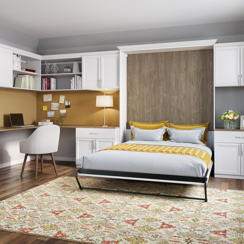 Price Pfister Warranty for a Transitional Home Office with a Murphy Bed and Transitional Home Office by Californiaclosets.com